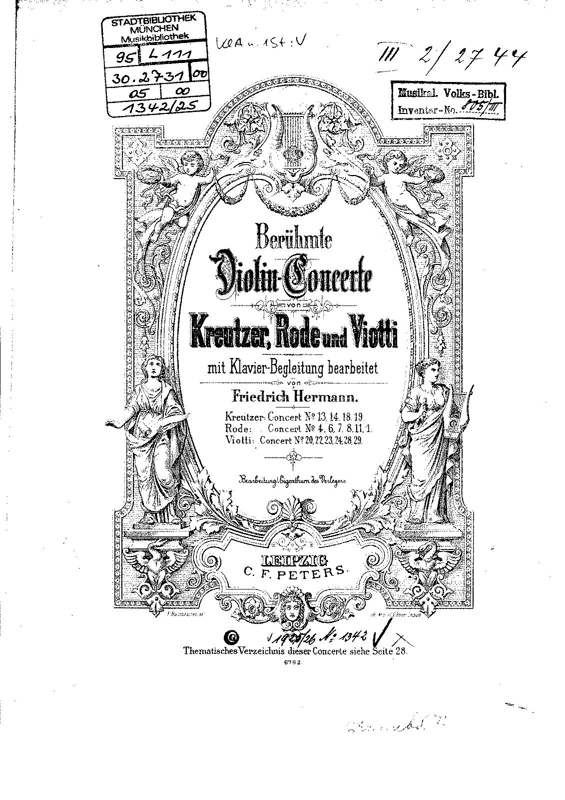 Violin Concerto No.18 in E minor (Kreutzer, Rodolphe