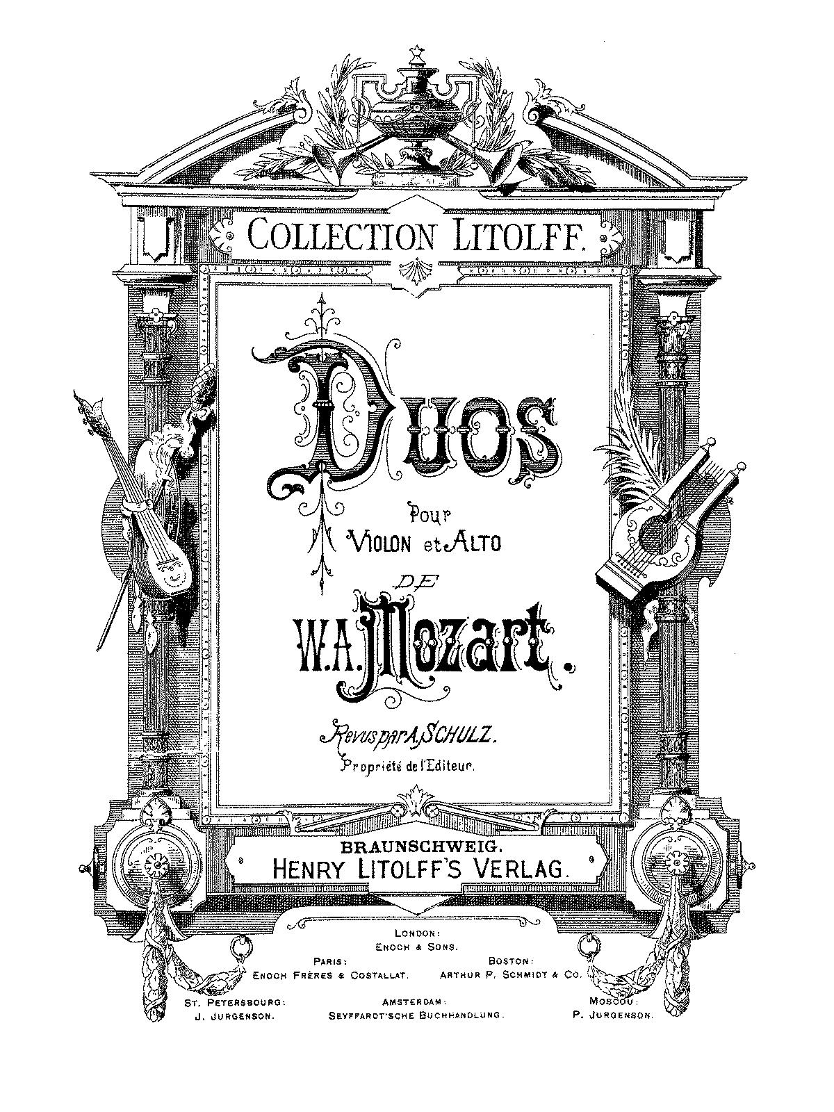 2 Duos for Violin and Viola, K.423-424 (Mozart, Wolfgang