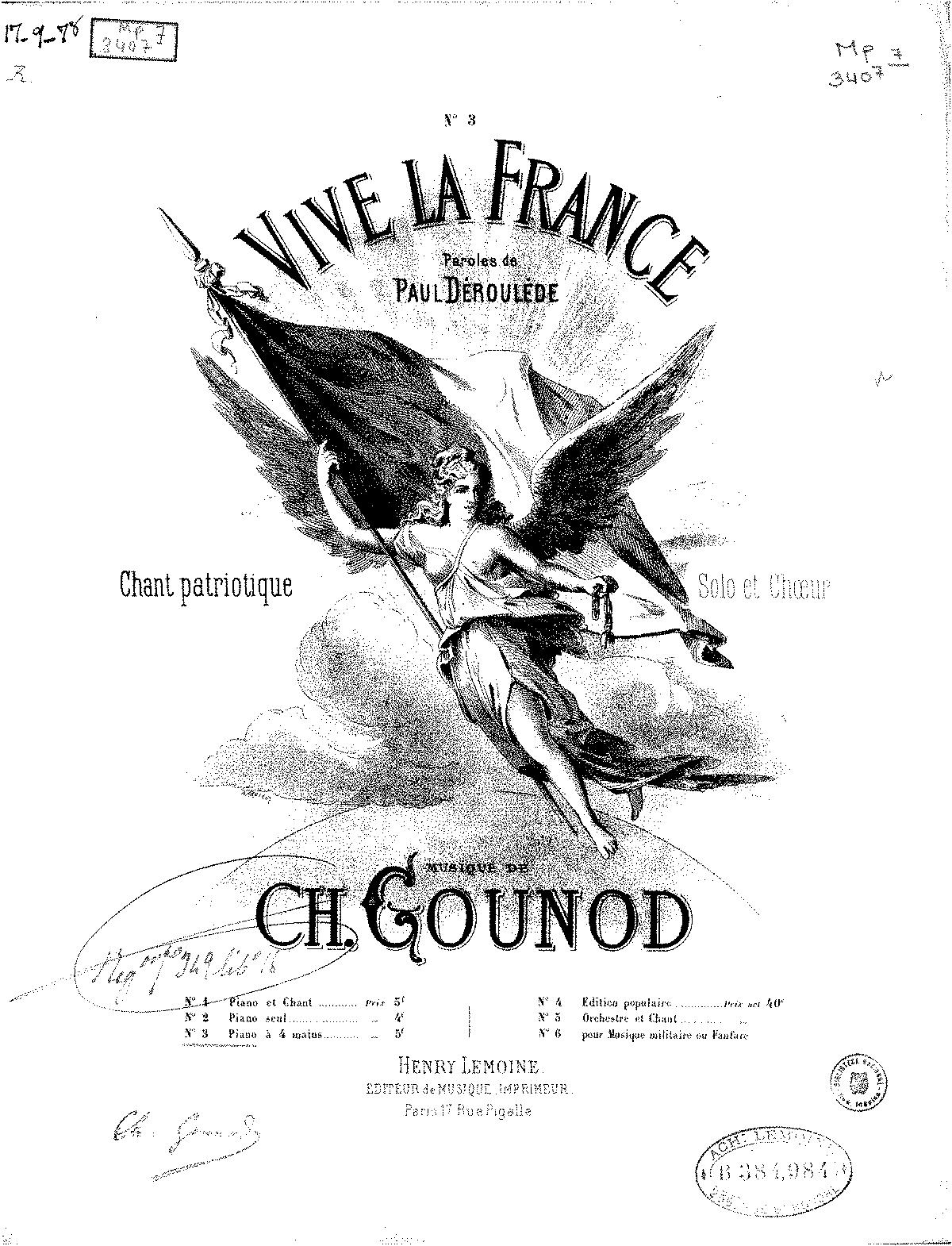 Vive La France Gounod Charles