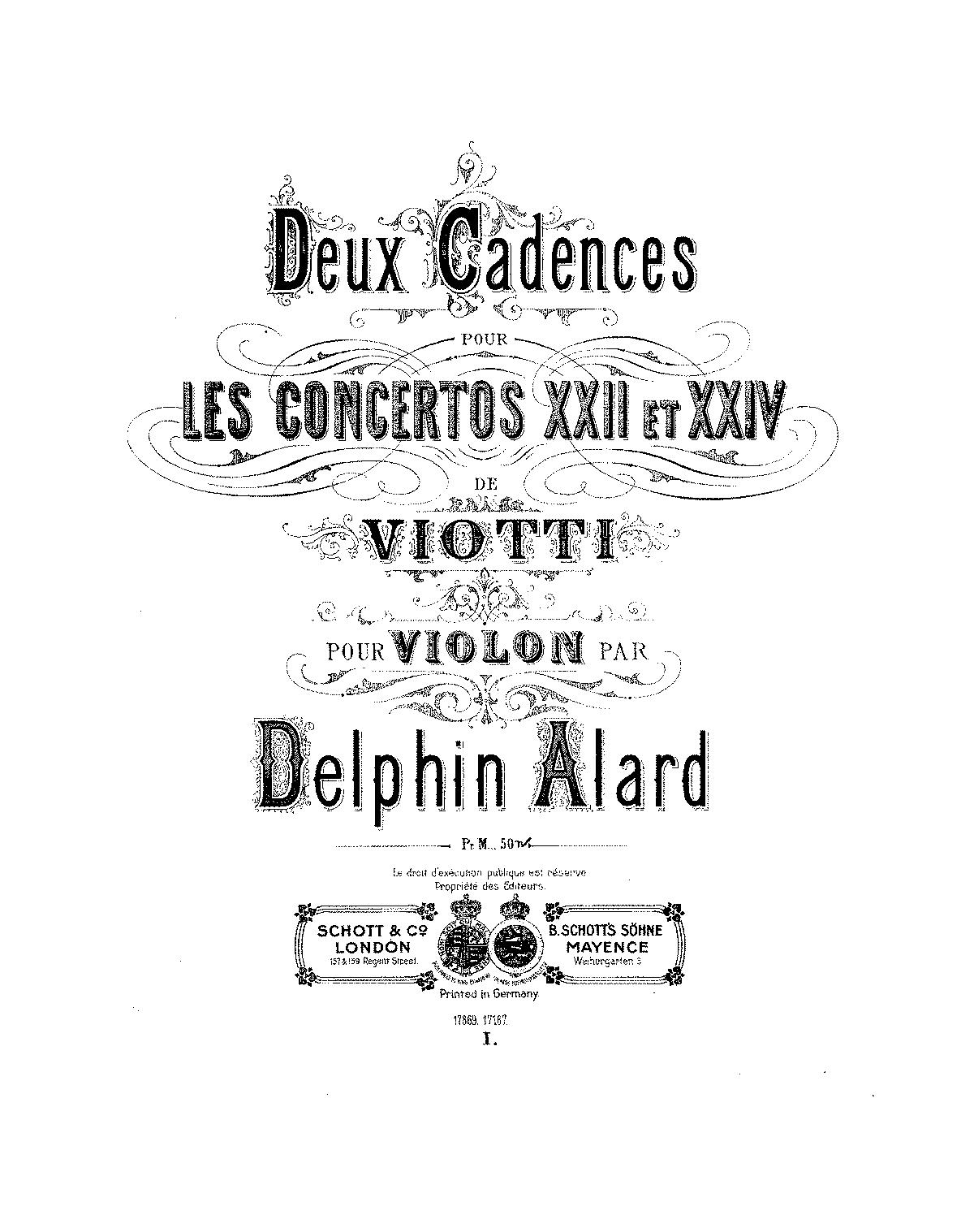 Violin Concerto No.22 in A minor (Viotti, Giovanni