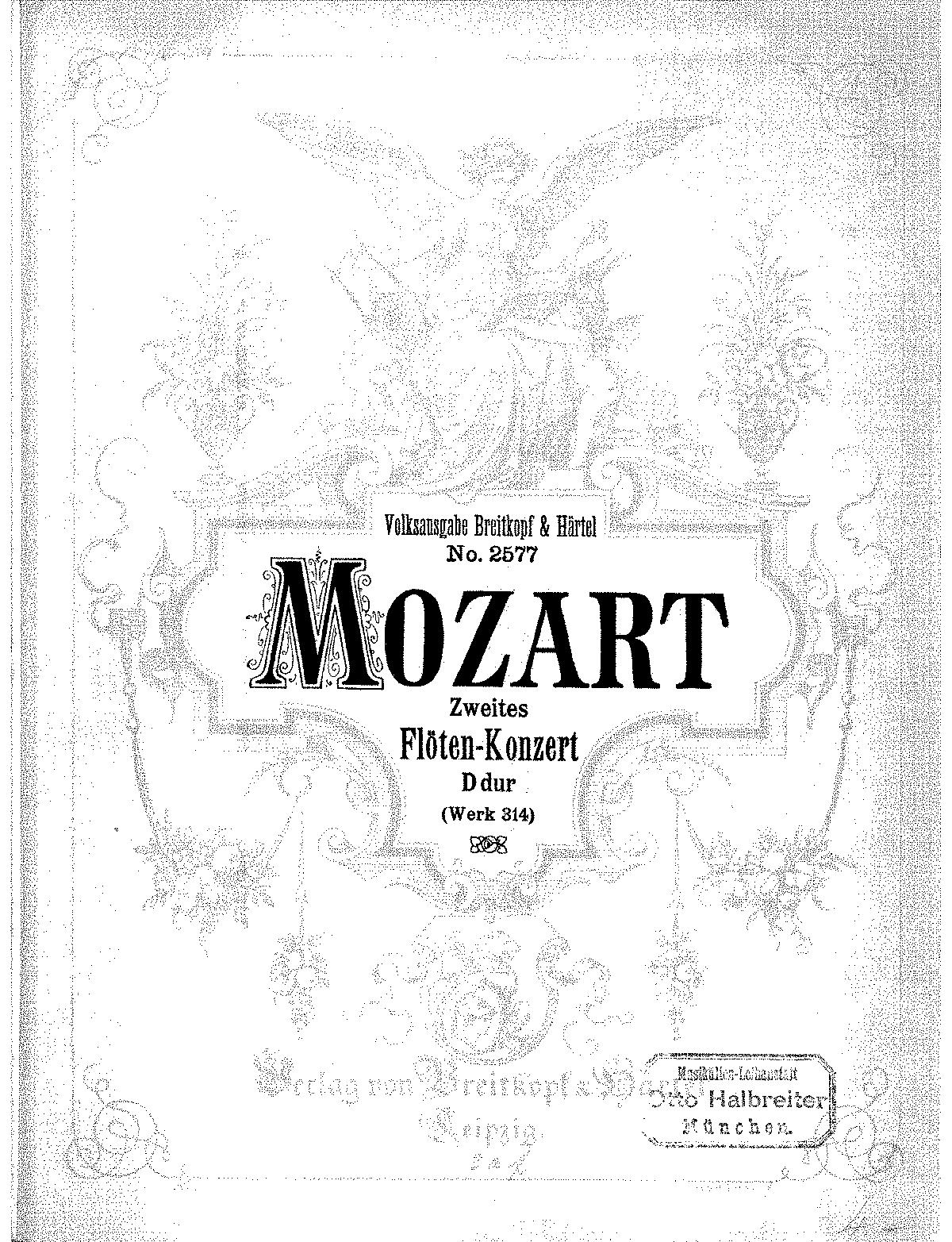 Flute Concerto in D major, K.314/285d (Mozart, Wolfgang