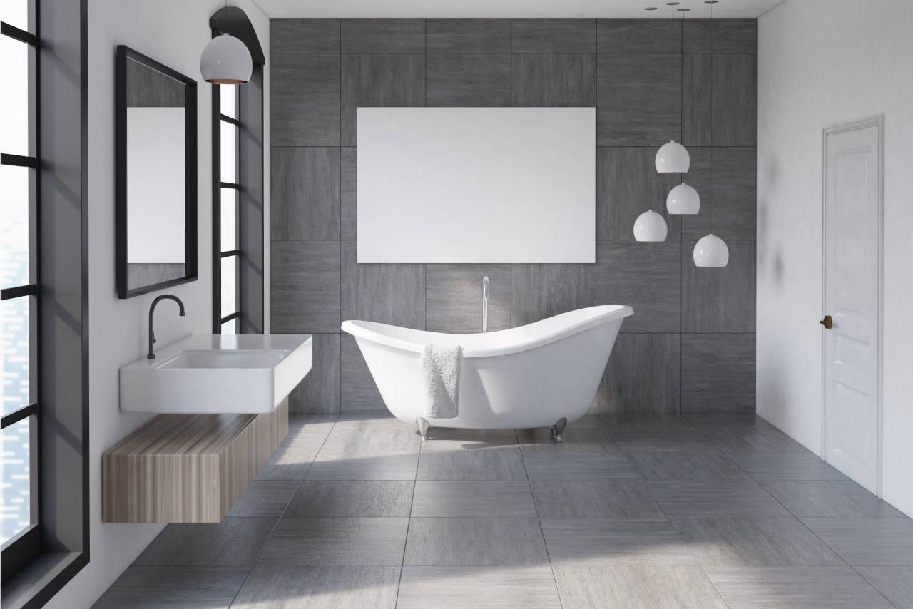 cost to install bathroom tile floor