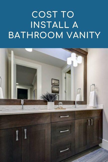 cost to install bathroom vanity 2021