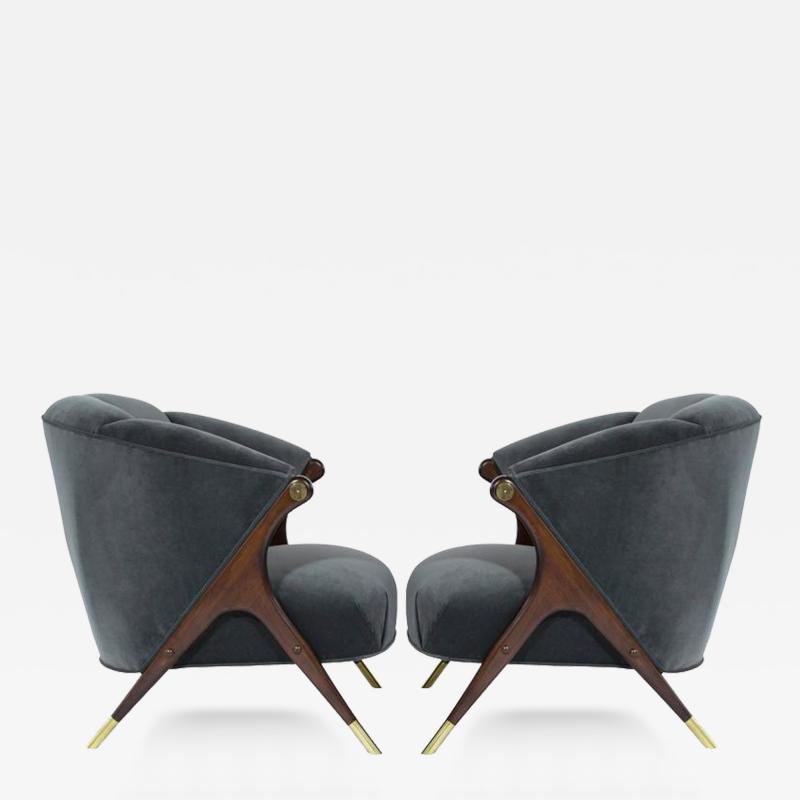 Karpen of California  Modernist Karpen Lounge Chairs in