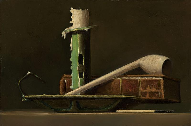 John Frederick Peto Still Life With Green Candlestick