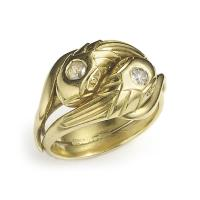 Victorian Gold Snake Ring