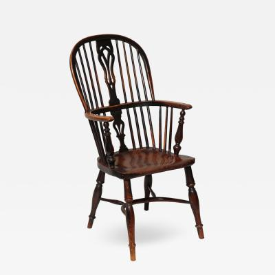 antique windsor chair stokke high accessories uk mid modern and chairs on incollect english yew wood hoop back armchair