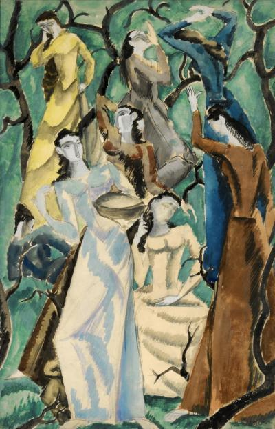 Max Weber Women In Garden 1912