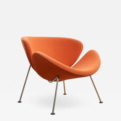 orange slice chair revolving for computer pierre paulin by artifort