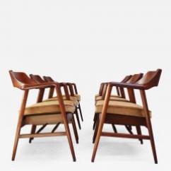 Wh Gunlocke Chair Thonet Bentwood Rocking W H Co Set Of Six Sculptural Walnut Armchairs 475885