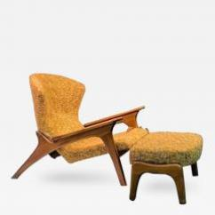 Adrian Pearsall Chair Ergonomic To Buy Angular Vladimir Kagan Style Grasshopper And Ottoman By 411290