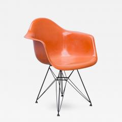 eames arm chair cloth dining room chairs charles and ray molded fiberglass armchair in orange 263257