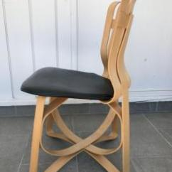 Frank Gehry Chair Jazzy Power Parts Set Of Four Dining And Two Captain Hat Trick Chairs By For