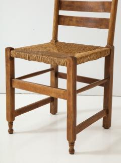 rush seat chairs adirondack blueprints set of four 19th c dutch oak 814409