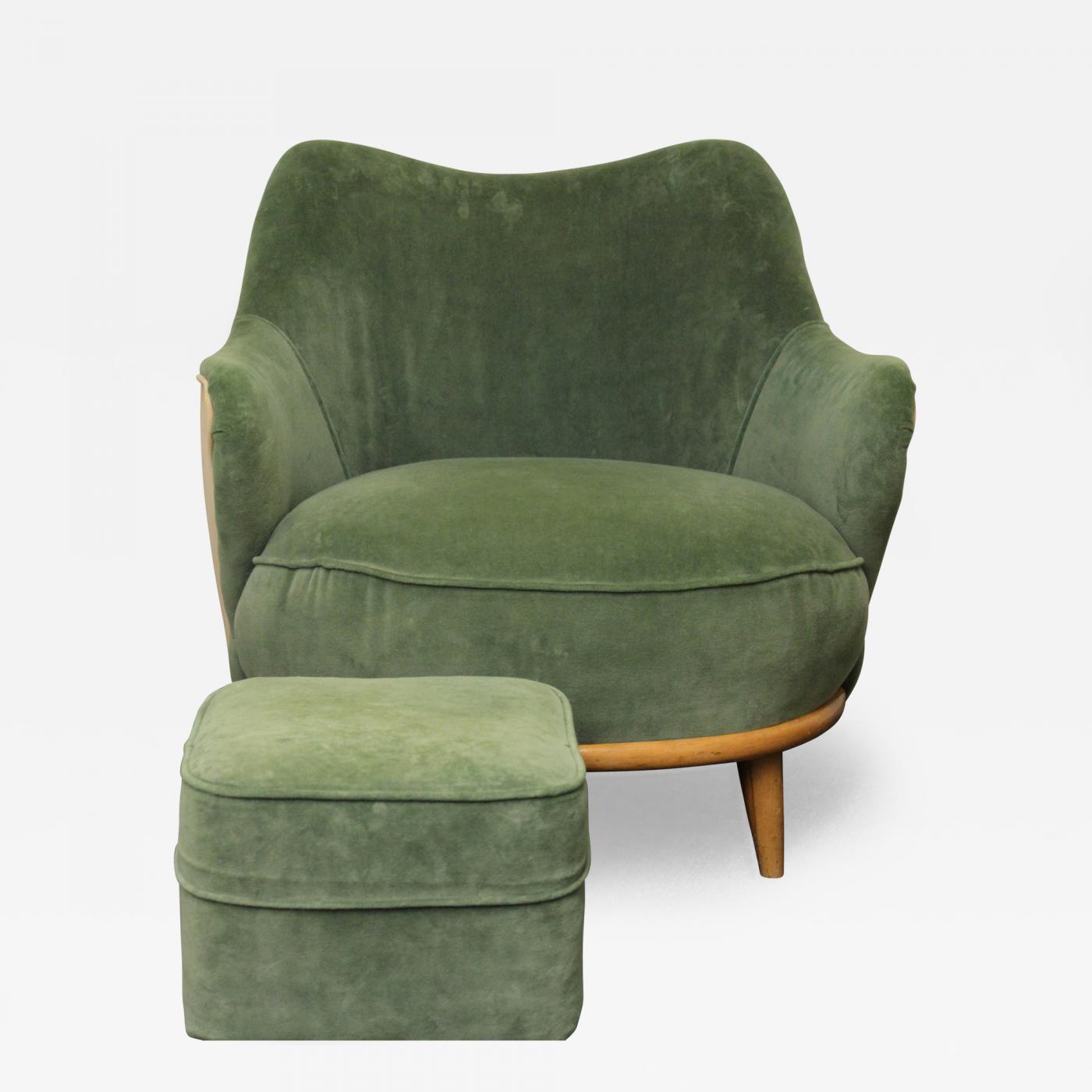 heywood wakefield chairs rocking chair classic heywood-wakefield - tub with ottoman