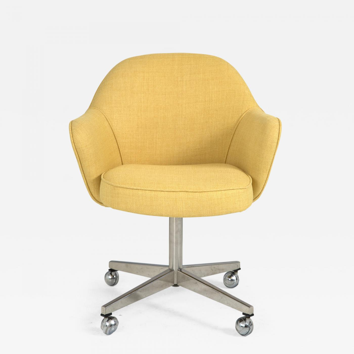 microfiber office chair low back chairs for concerts knoll desk in yellow
