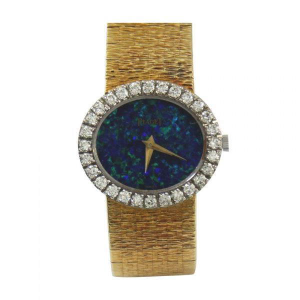 Piaget - Lady' Yellow Gold Black Opal Dial Wristwatch