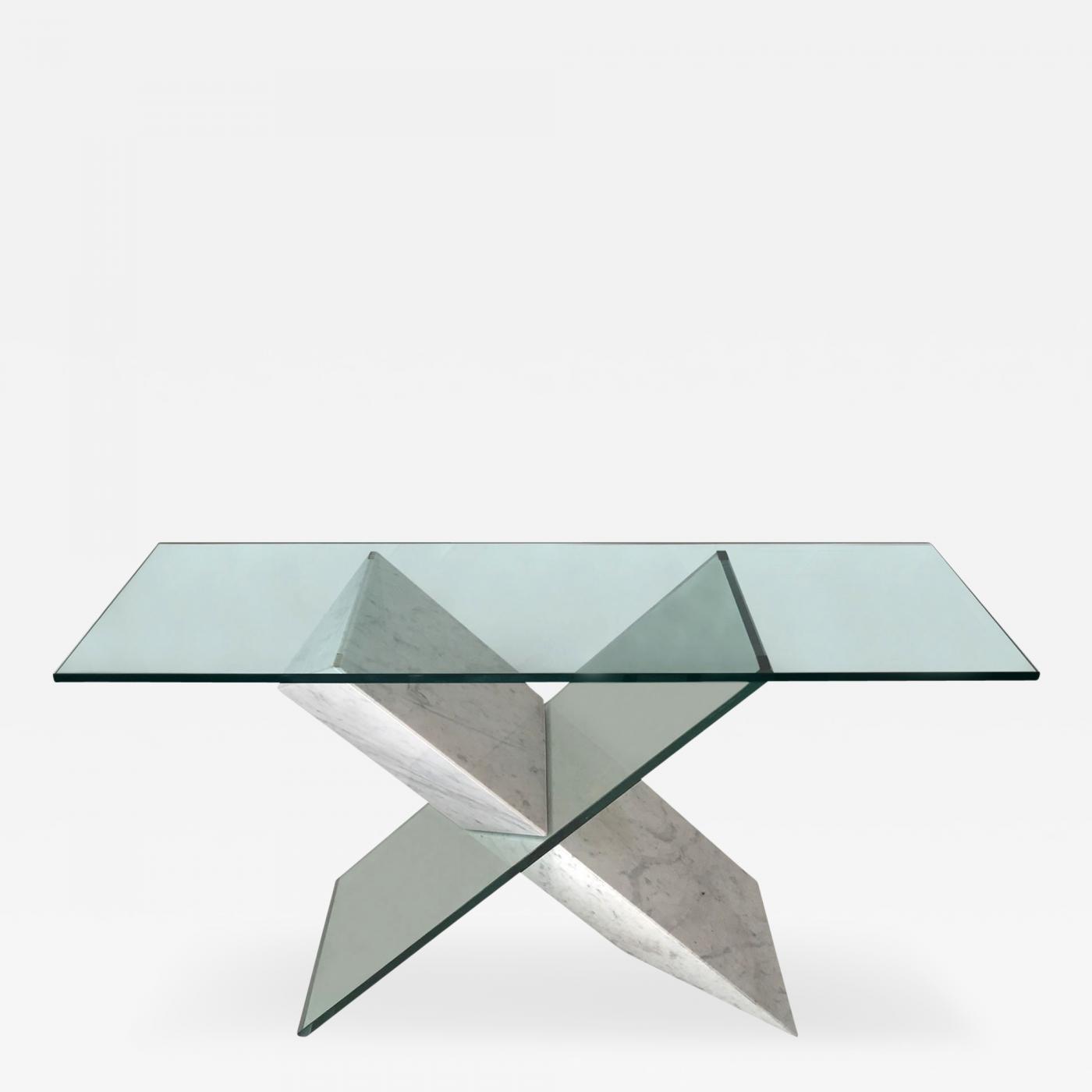 Consolle Roche Bobois Roche Bobois Glass Console Table