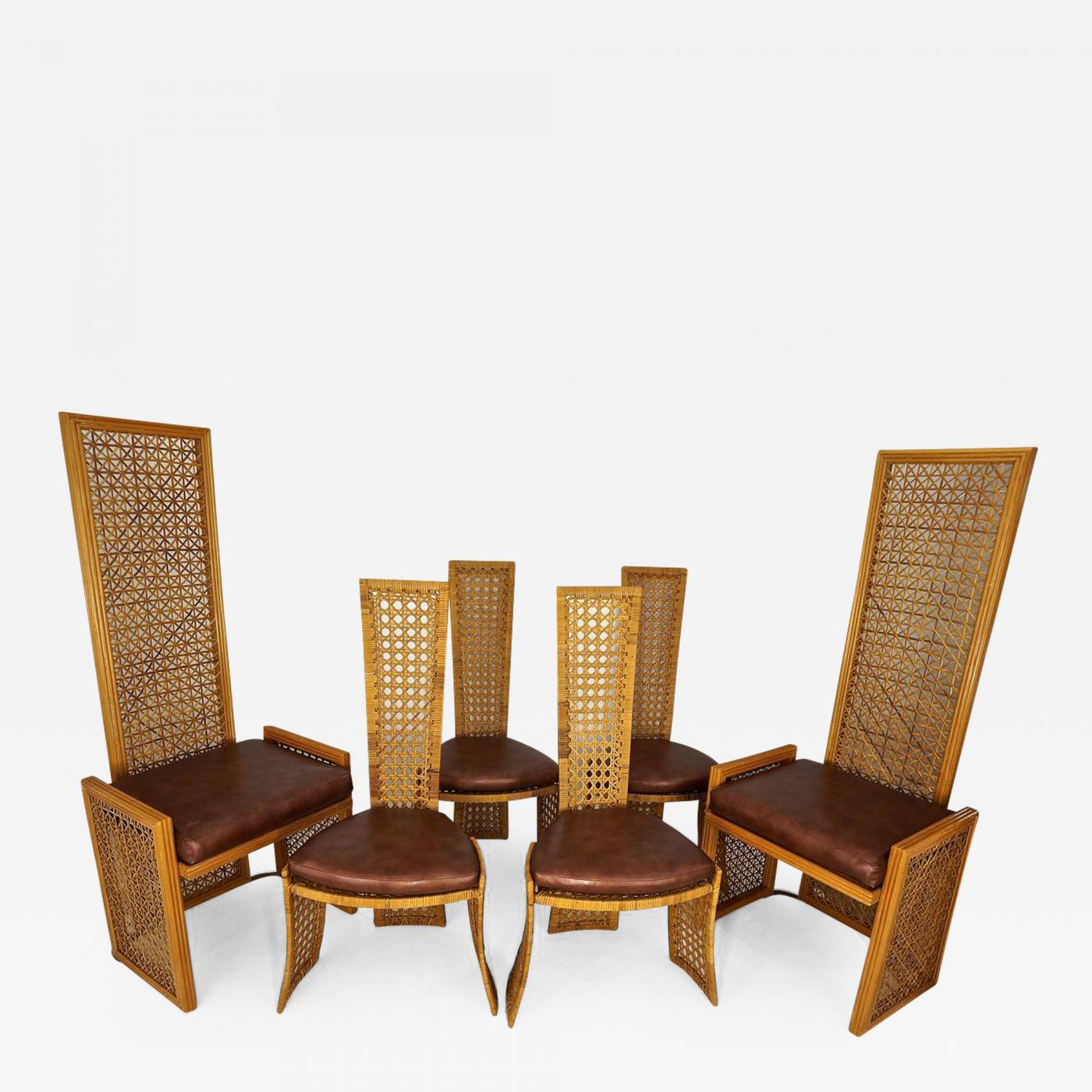 dining chairs with caning walmart dorm chair vivai del sud set of eight french casa bella danny ho fong style