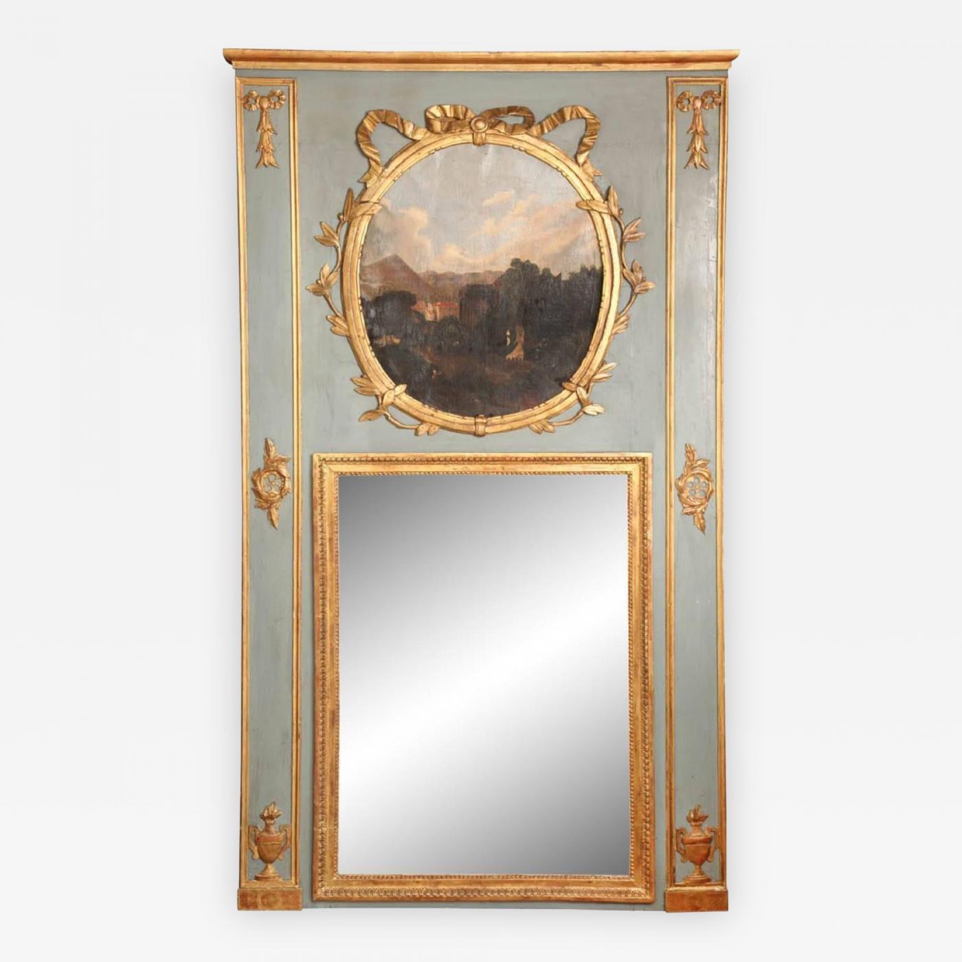 A French Louis XVI Style Trumeau Mirror