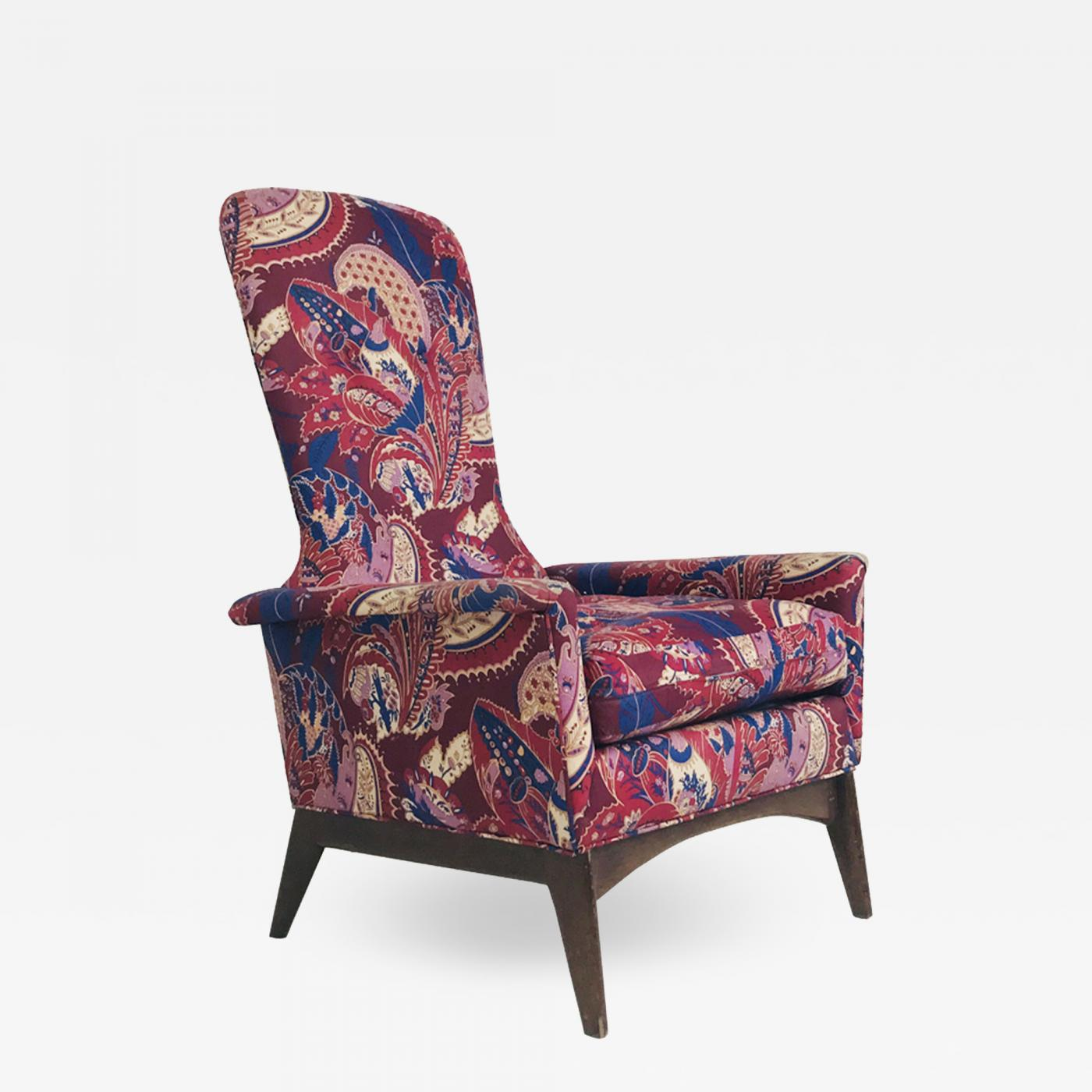 Paisley Chair Adrian Pearsall Adrian Pearsall Tall Back Paisley Armchair
