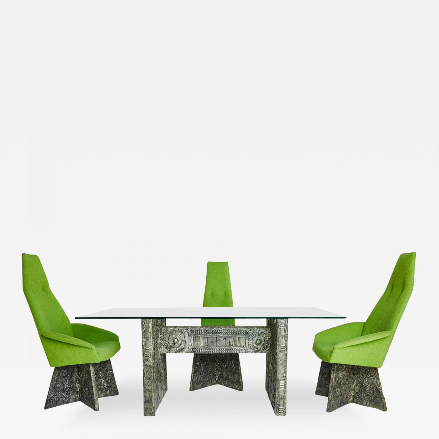 4 chair dining set hanging from ceiling brutalist with chairs by adrian pearsall for craft associates