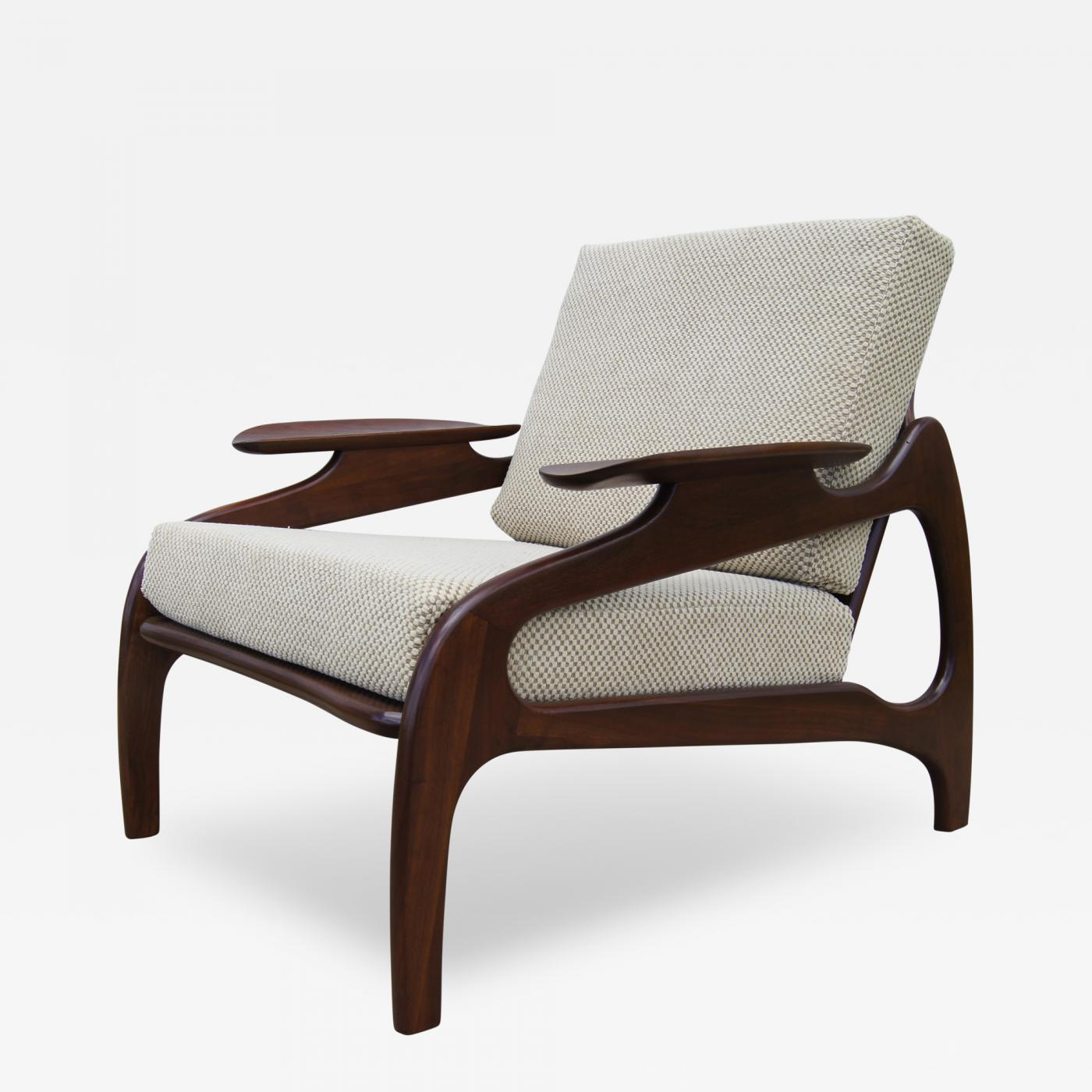 Adrian Pearsall  Model 1209C Walnut Lounge Chair by