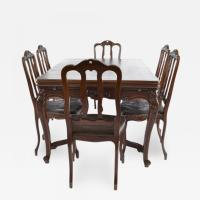 Antique Louis XV Dining Table and Six (6) Chairs, France ...