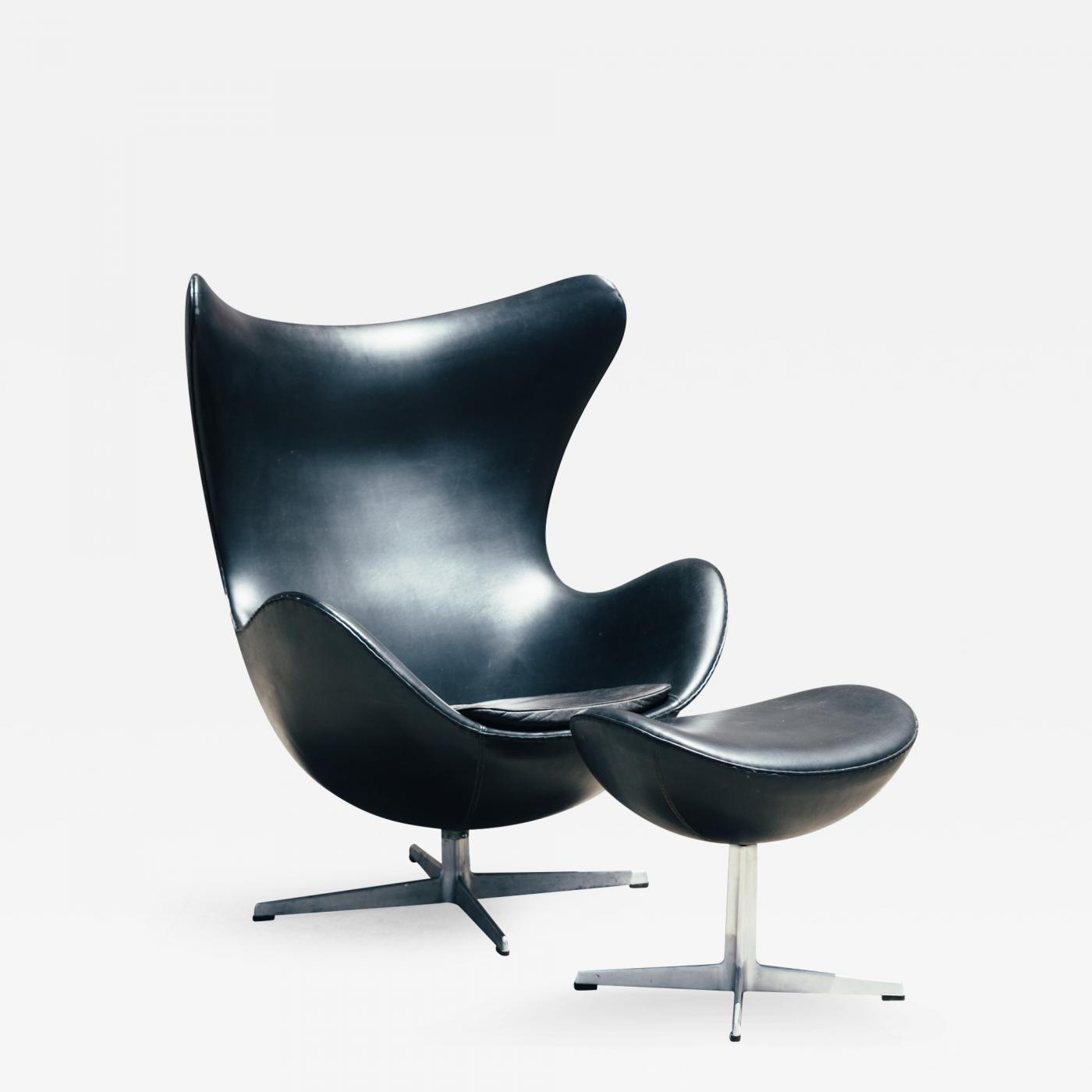 arne jacobsen egg chair for office 1960s and ottoman
