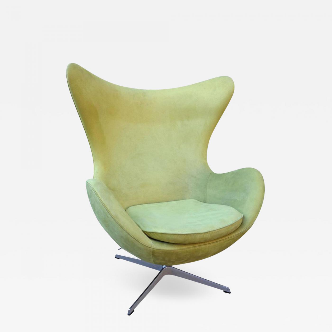 mid century egg chair folding names midcentury suede arne jacobsen for fritz hansen