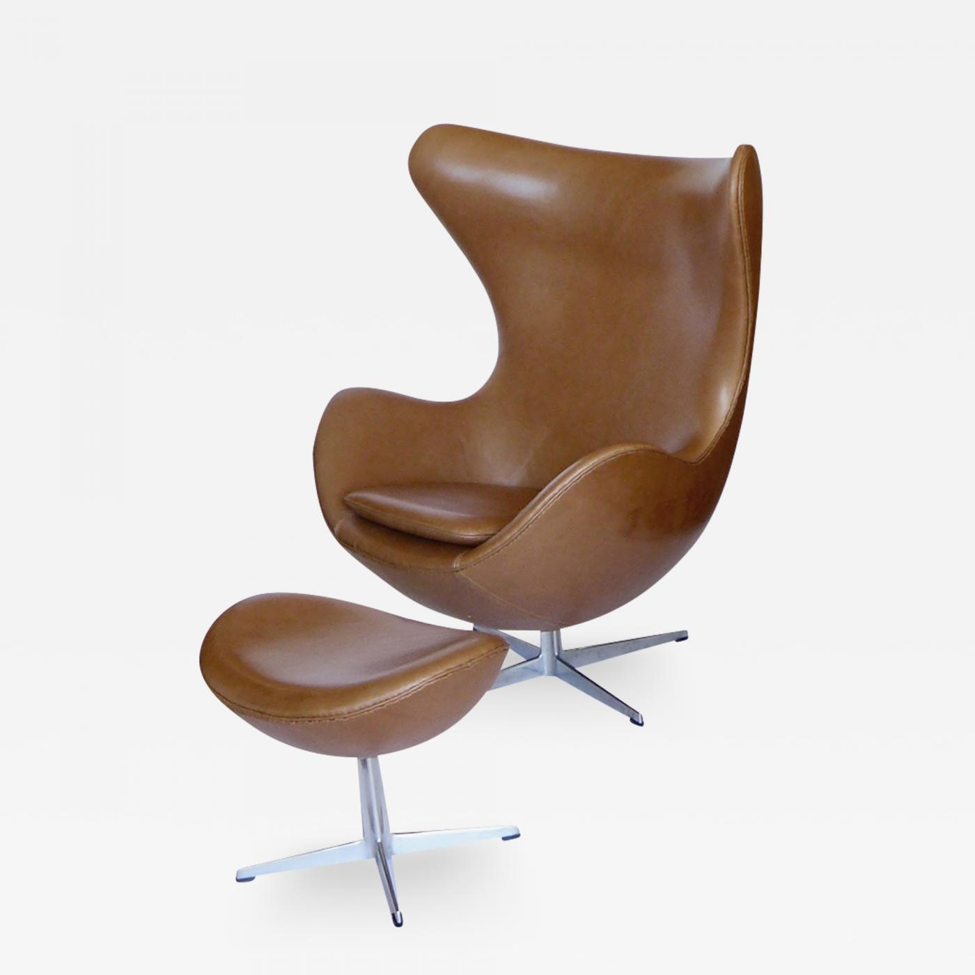 jacobsen egg chair leather christopher knight home darvis brown bonded recliner club arne original tan and ottoman
