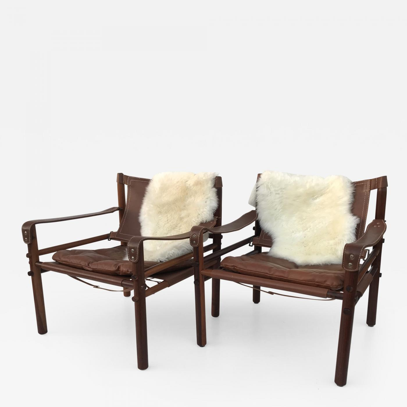 Safari Chairs Arne Norell Pair Of Rosewood Sirocco Safari Chairs By Arne Norell