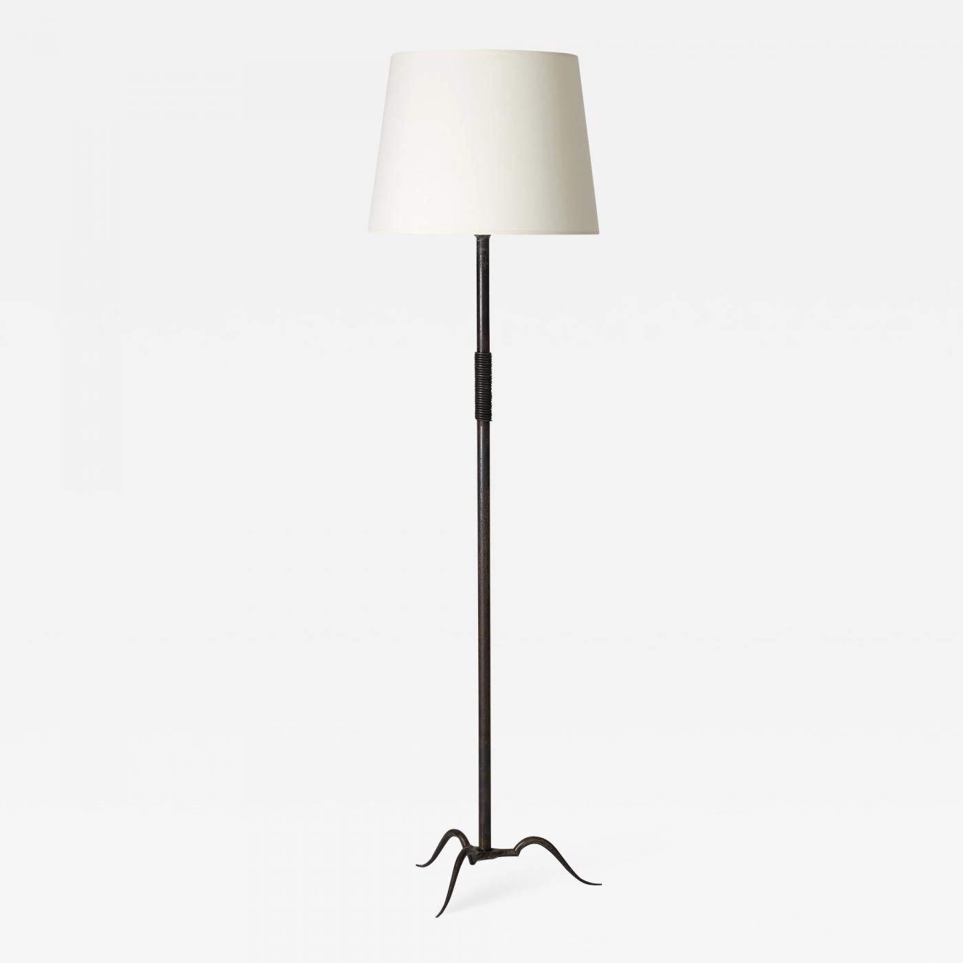 Michel Zadounaisky Art Deco Wrought Iron Floor Lamp By Michel Zadounaisky