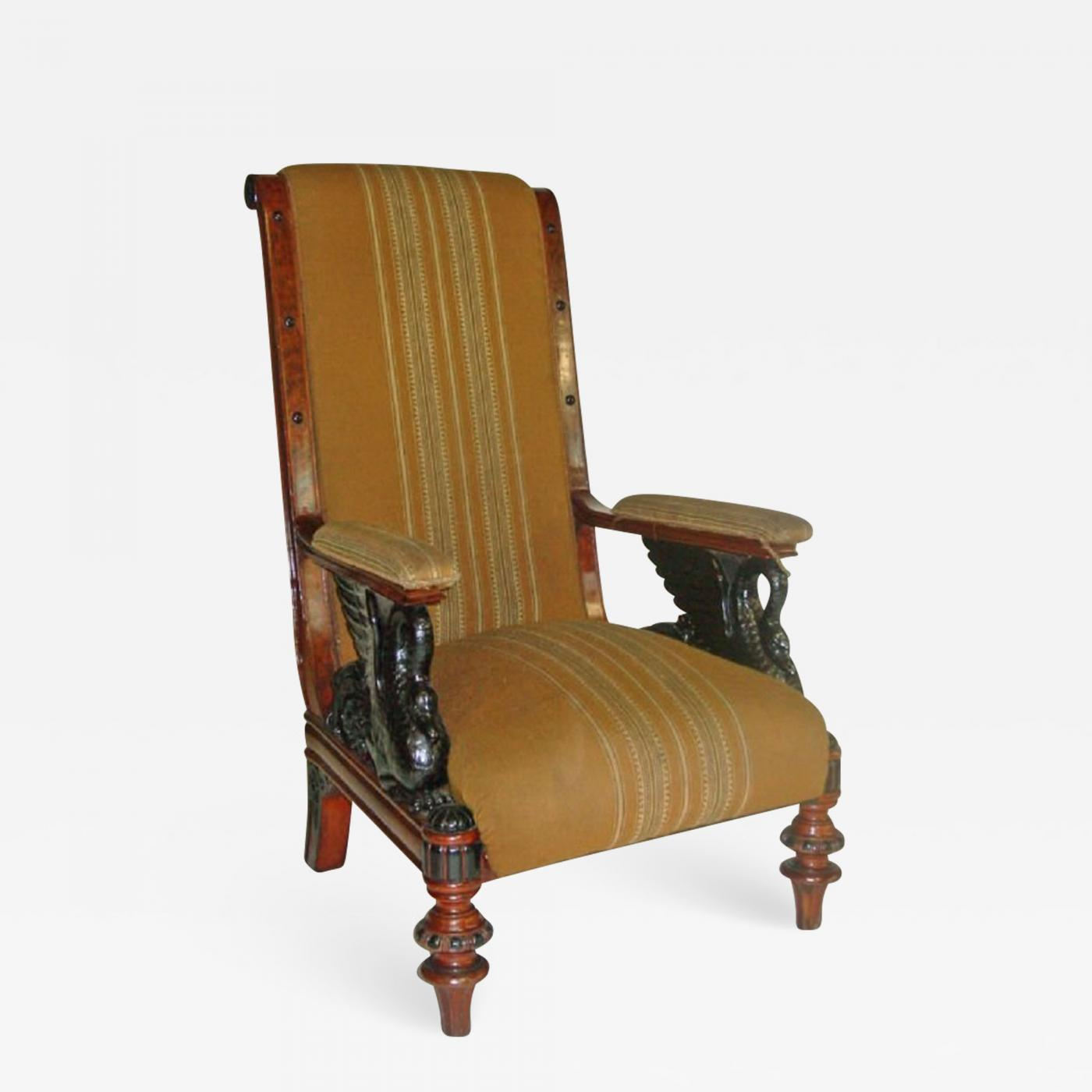unusual armchair teak bath chair austrian 19th century biedermeier library listings furniture seating easy chairs