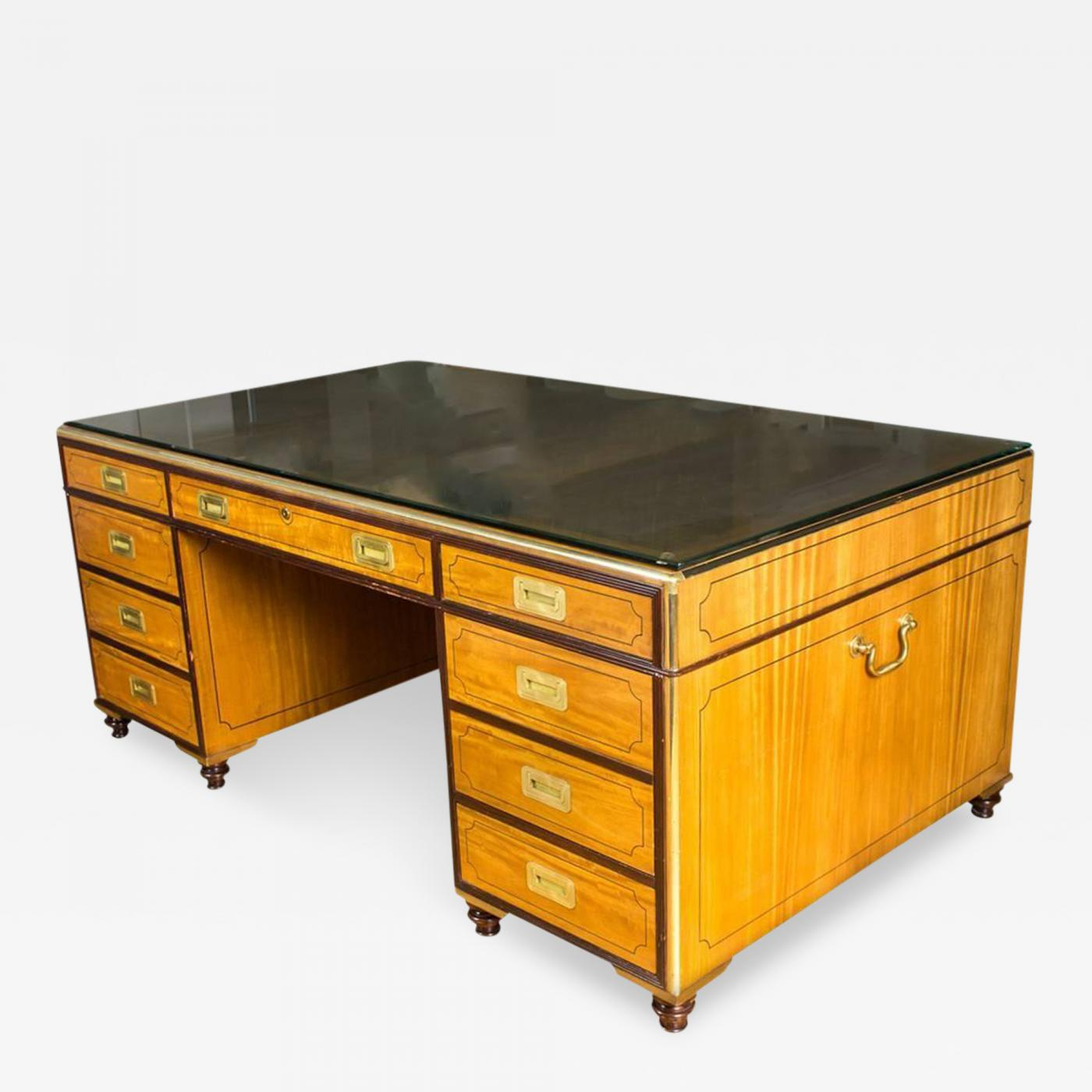 Baker Knapp  Tubbs  Campaign Style Partners Desk by