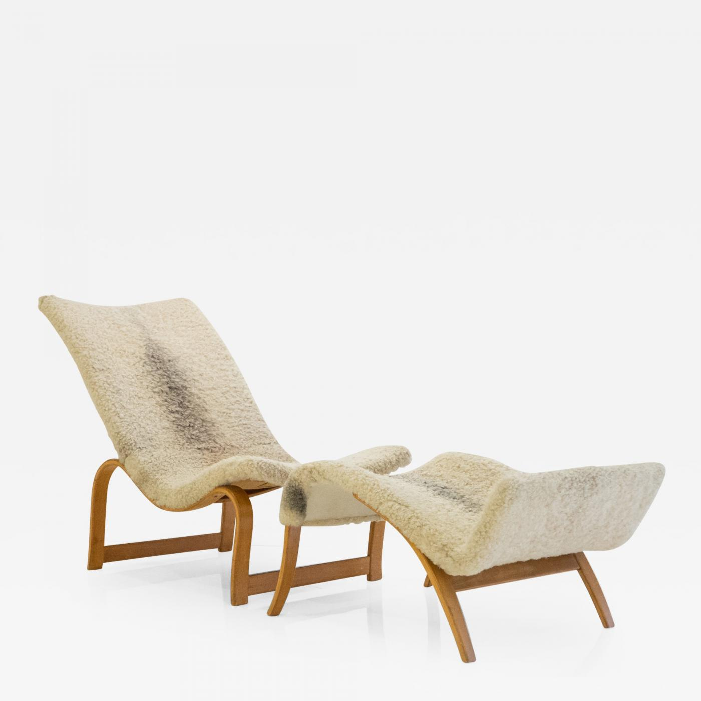 easy chairs with footrests room hammock chair bruno mathsson model 36 footrest