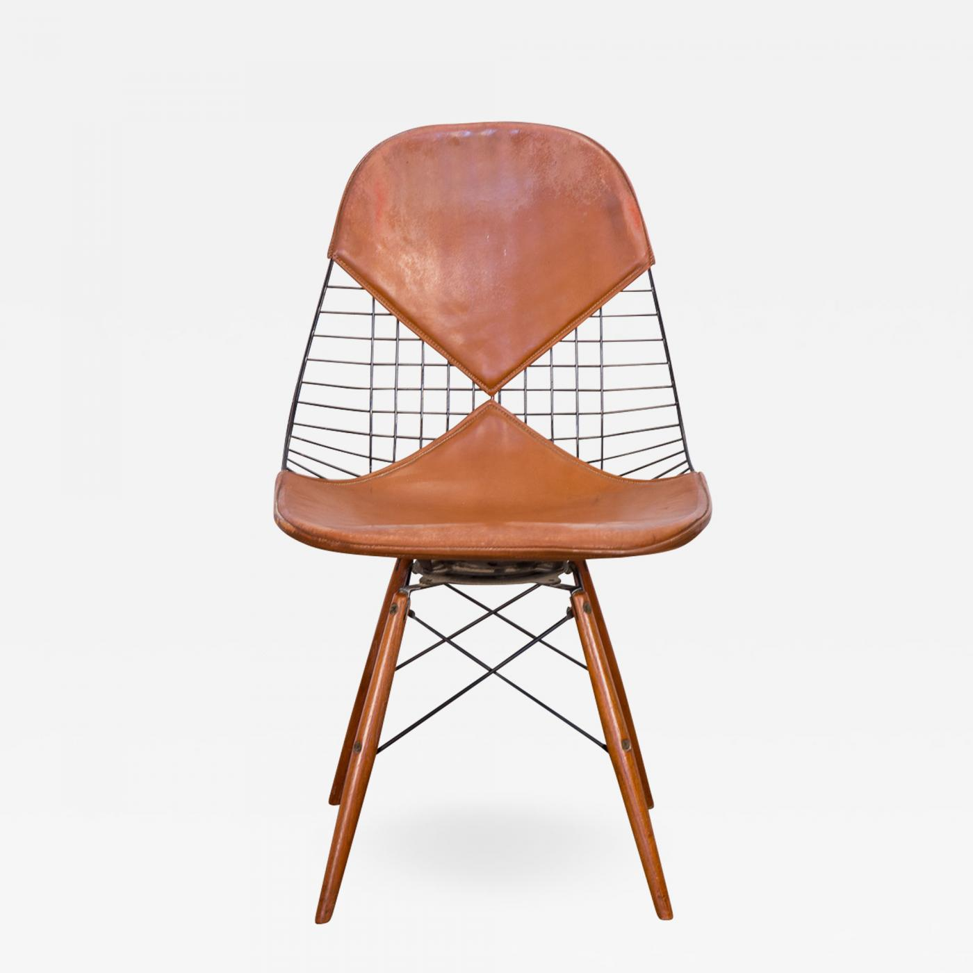 Eames Wire Chair Charles Eames Original Eames Pkw 2 Wire Chair On Dowel Swivel Base