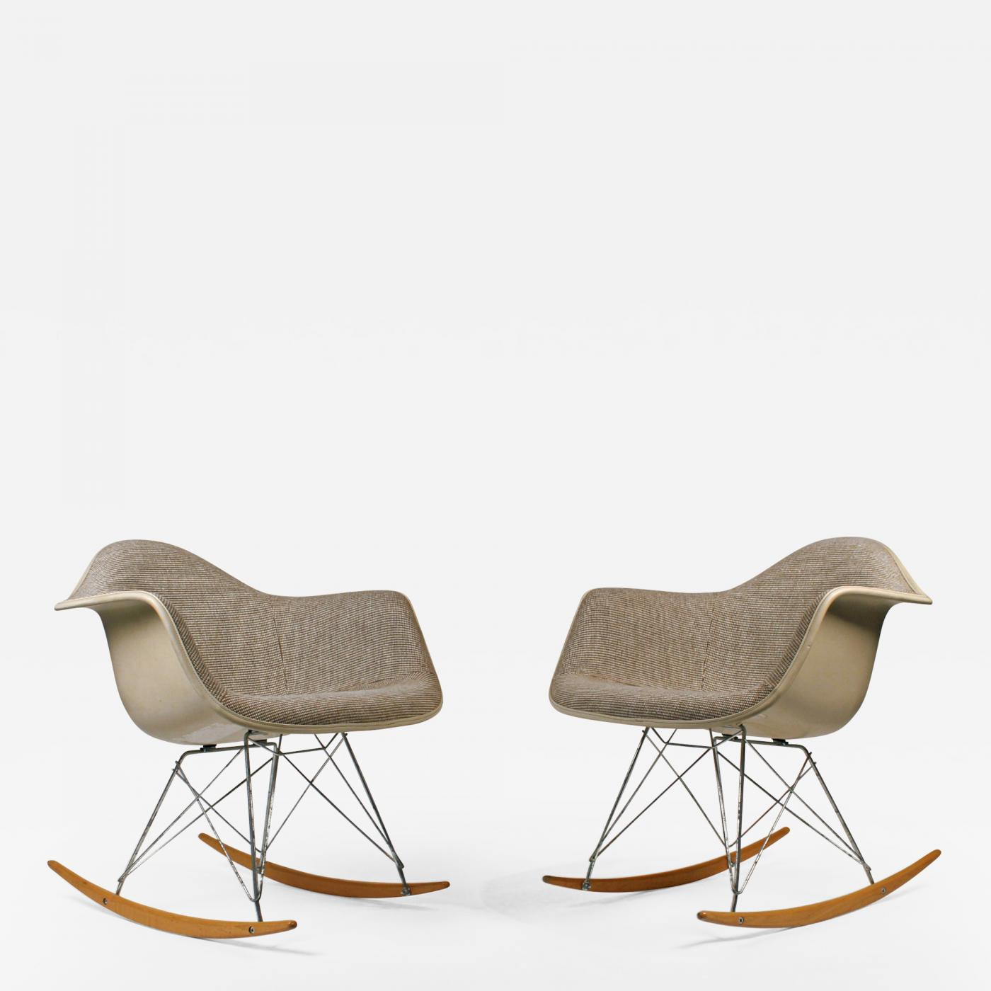 Rocking Chairs Charles Eames Rocking Chairs By Charles Eames For Herman Miller With Alexander Girard Textile
