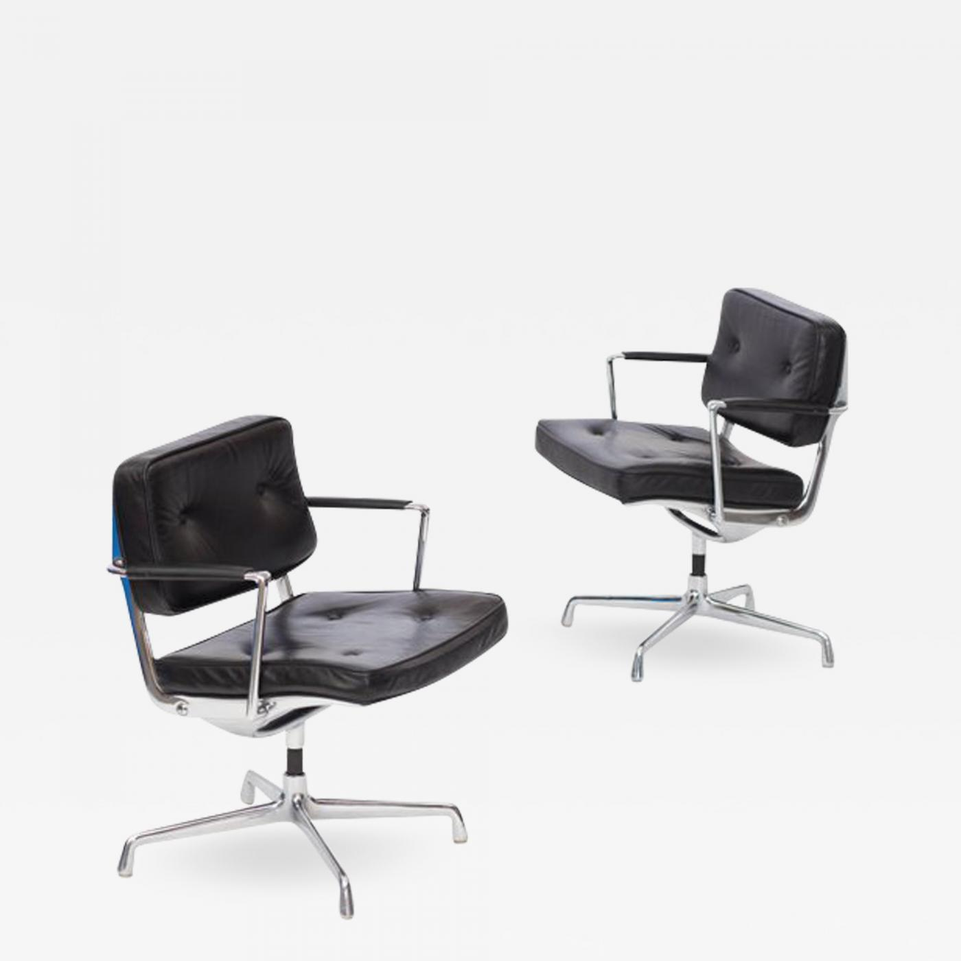 Eames Desk Chair Charles And Ray Eames Eames Intermediate Desk Chair In Black Leather 1968
