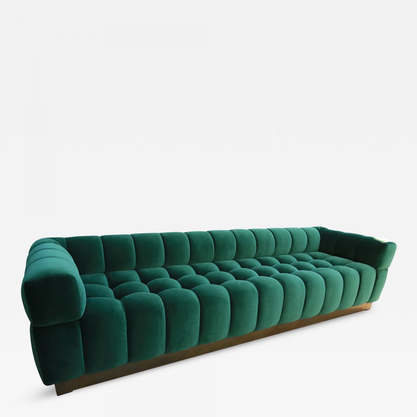 custom sofa los angeles ca rattan corner with storage box adesso studio - tufted green velvet brass ...