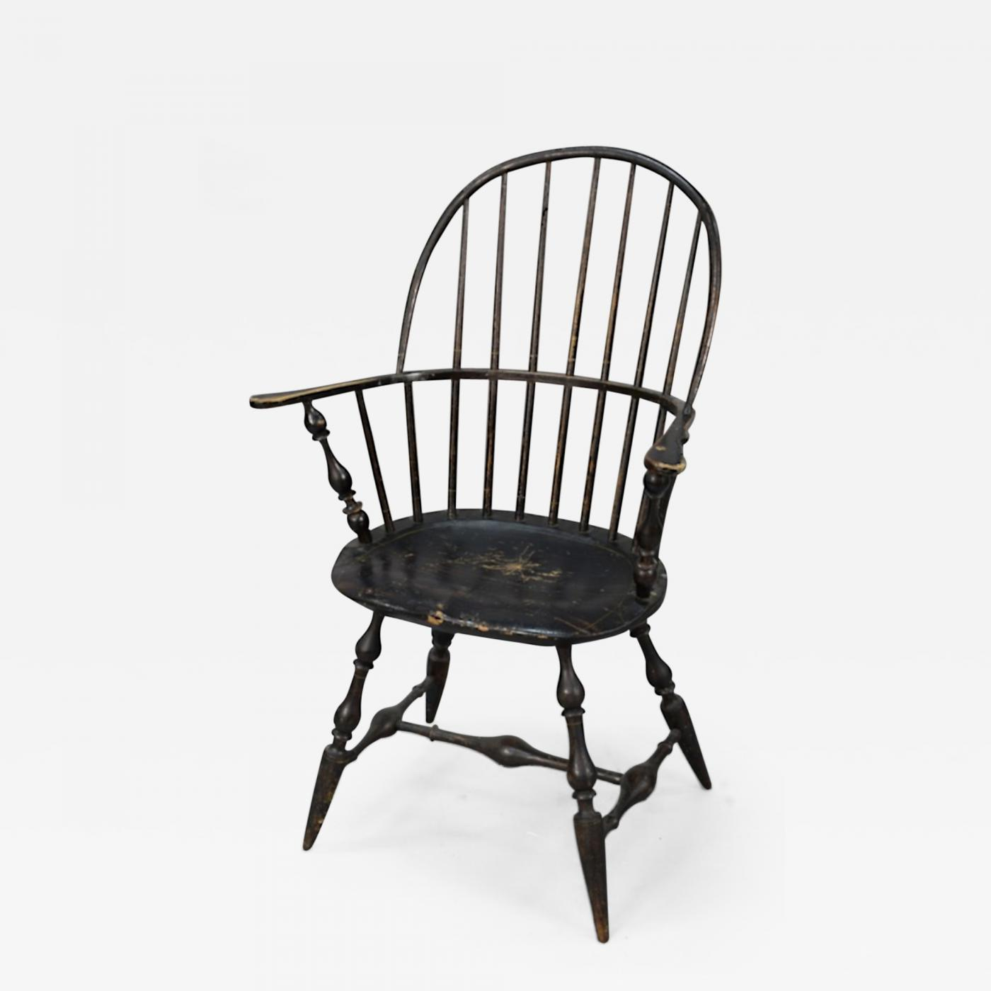 Windsor Chairs Black Ebenezer Tracy Rhode Island Sack Back Windsor Armchair 1785 1795