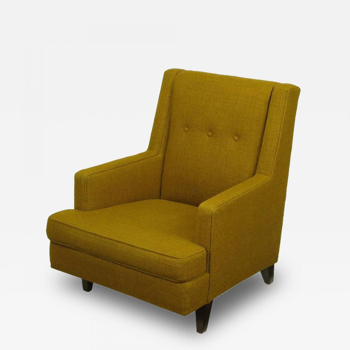 Green Upholstered Chair Edward Wormley Edward Wormley Lounge Chair In Moss Green Wool Upholstery