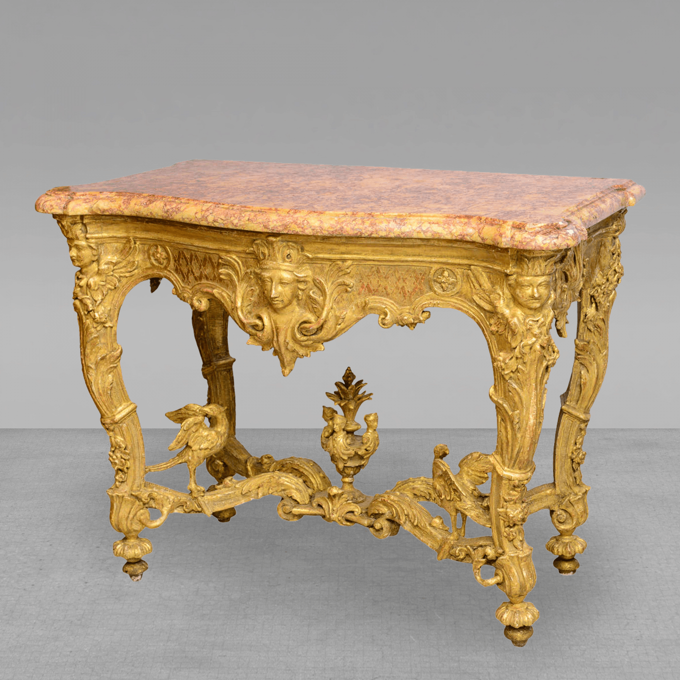 Fine Regence Or Early Louis XV Giltwood And Marble Top