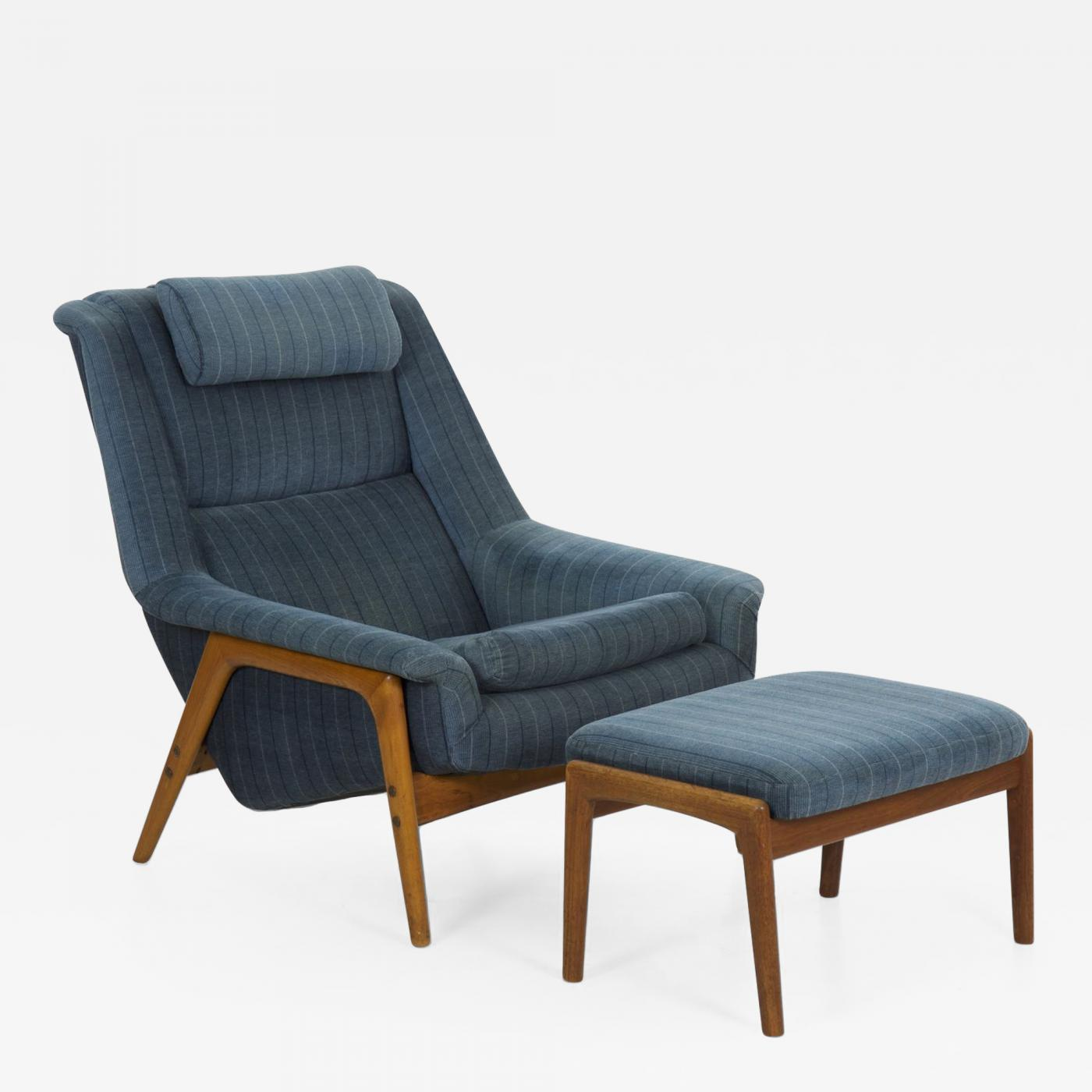 Chairs With Ottoman Folke Ohlsson Mid Century Lounge Chair With Adjustable Ottoman By Folke Ohlsson