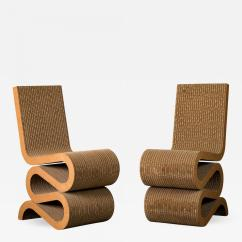 Frank Gehry Cardboard Chairs White Fuzzy Chair Wiggle