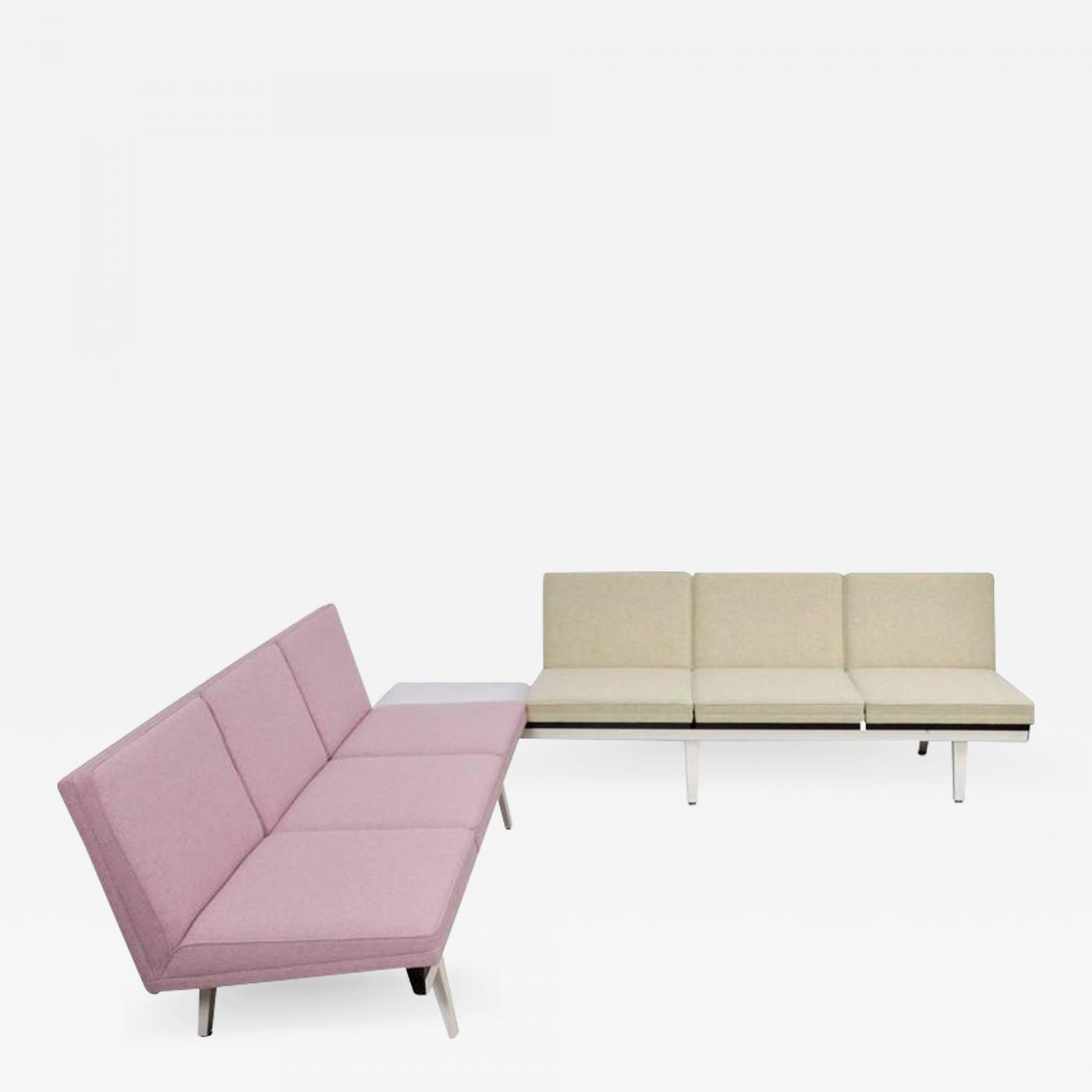 steel frame sofa set covers india george nelson two tone by