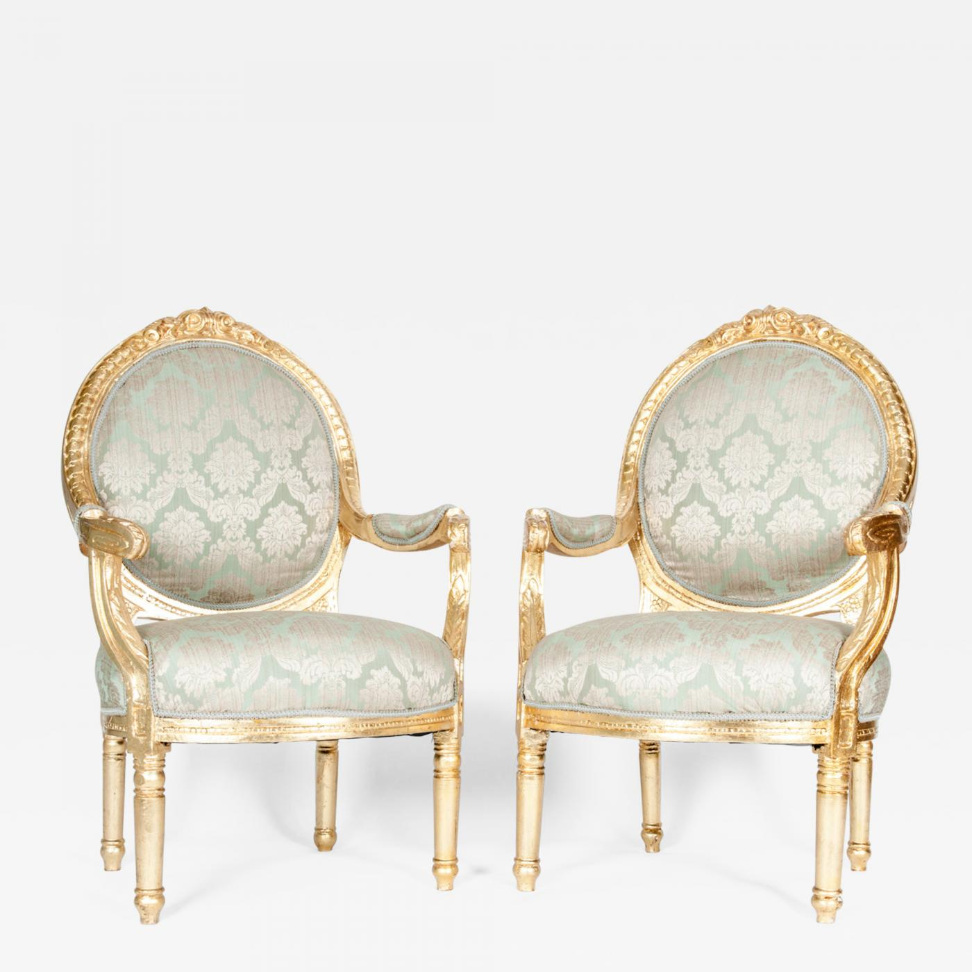 Styles Of Chairs Gilded Wood French Pair Of Victorian Style Chairs
