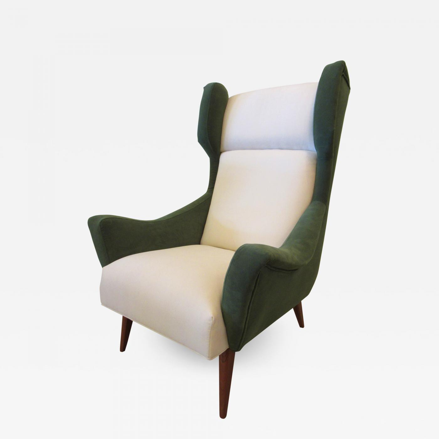 Modern Wing Chair Gio Ponti Italian Modern Upholstered Wing Chair