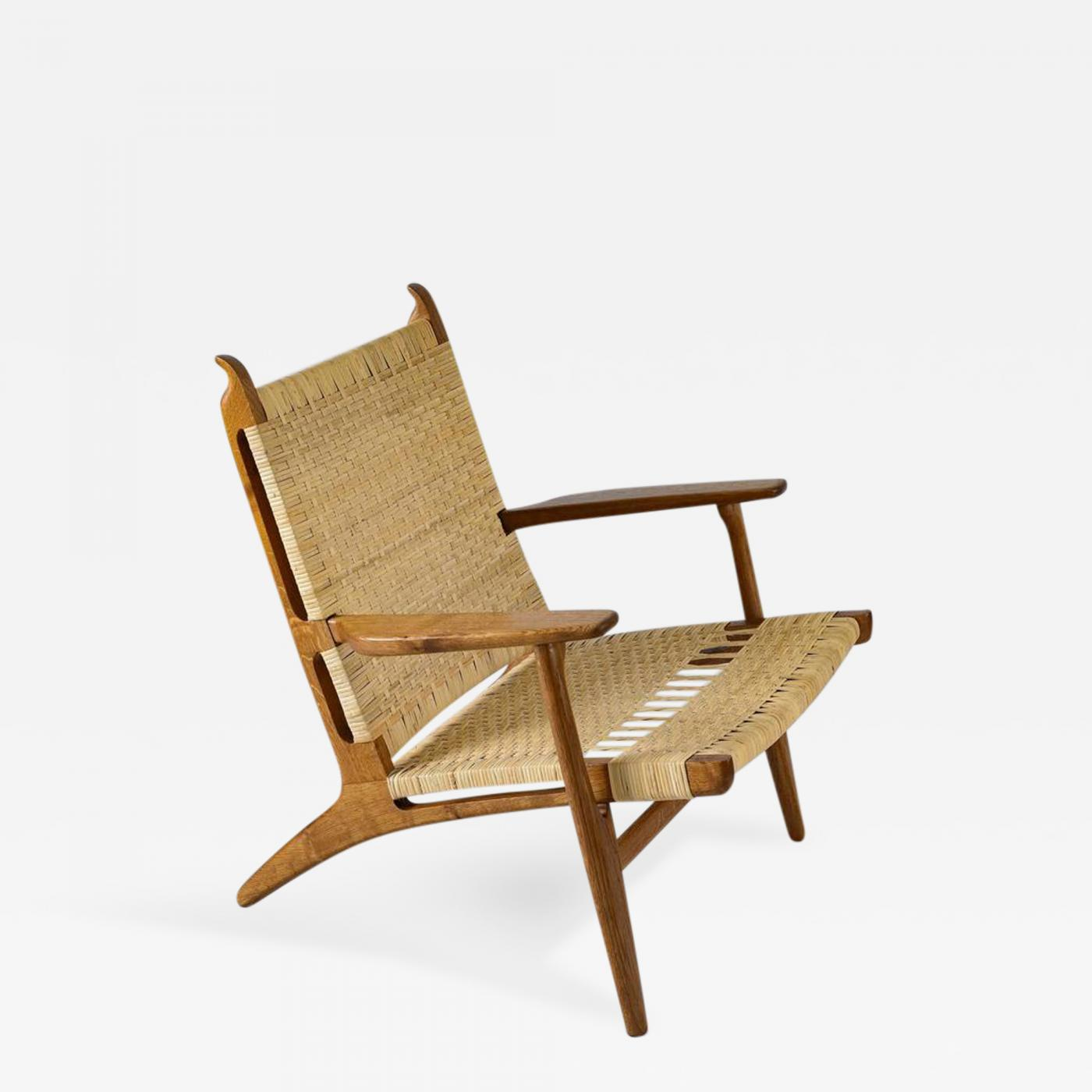 hans wegner the chair with armrest ch 27 lounge