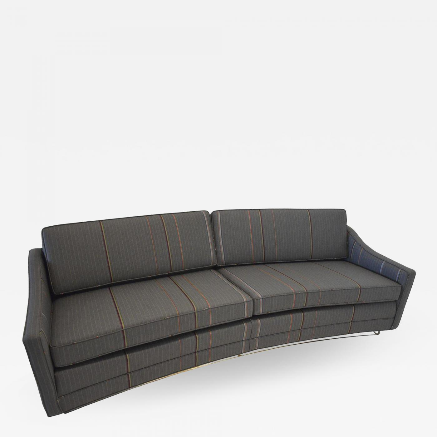 modern twine curved arm sofa who has the best quality sofas harvey probber mid century lucite based
